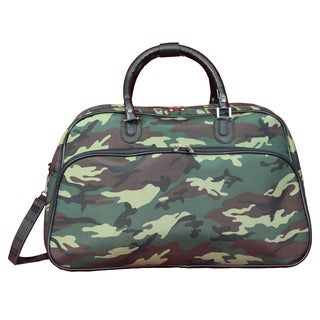 World Traveler Green Camouflage 21-Inch Carry-On Shoulder Tote Duffle Bag
