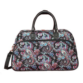 World Traveler Paisley 21-Inch Carry-On Shoulder Tote Duffle Bag