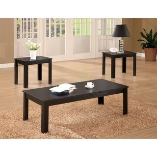 Attractive Black Three Piece Occasional Table Set