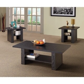 Benzara Bewildering Rich Black Wood 3-piece Occasional Table Set