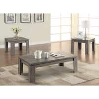 Enormous 3 piece weathered Gray occasional Table set