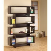 Stupendous Wooden Bookcase With Open Shelves, Brown