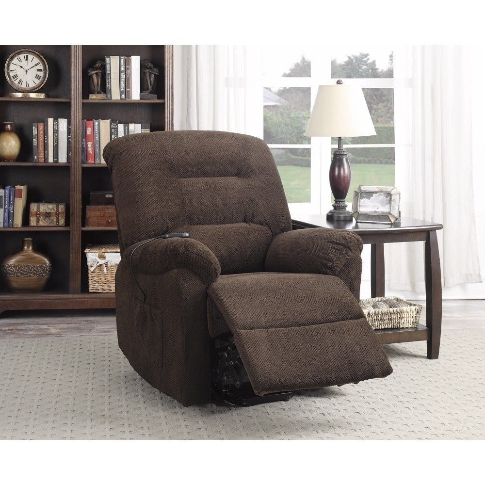 Cool Irresistable Power Lift Recliner With Supreme Comfort Brown Gmtry Best Dining Table And Chair Ideas Images Gmtryco