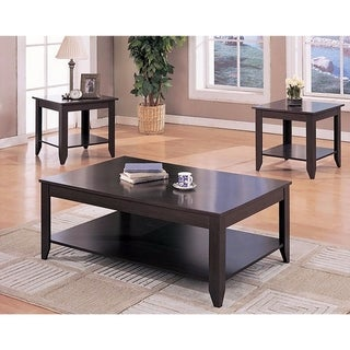 Amazingly Designed 3 Piece occasional table set, Brown