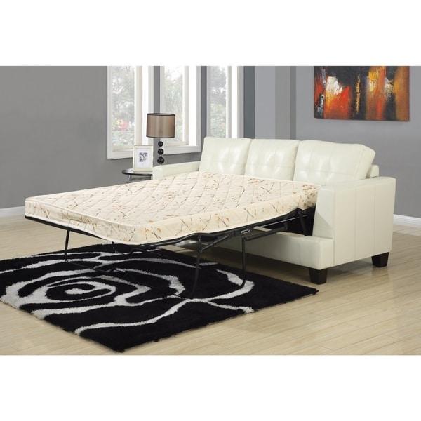 Sleeper Sofa Overstock: Shop Sober Cream Sofa Sleeper