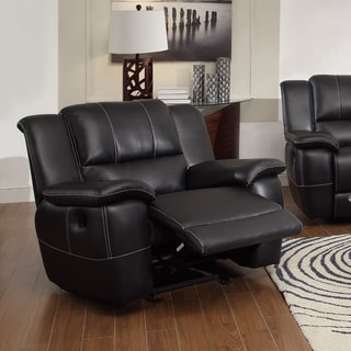 Phenomenal Glider Recliner with Pillow Arms, Black