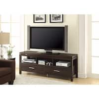 Benzara Brown Wood 60-inch TV Console