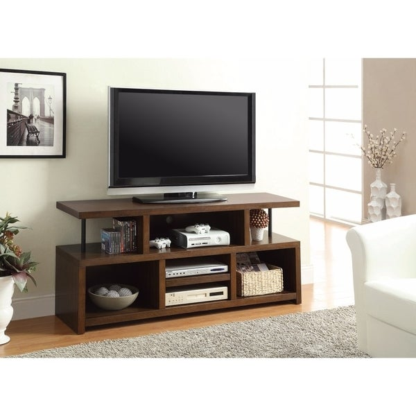 Ultimate TV Console With Open Storage, Brown