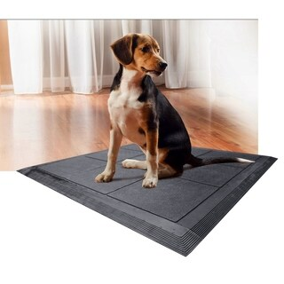 A1HC First Impression Non Slip & Non Scratch 36 in. x 36 in. 100% Rubber Kennel Mat