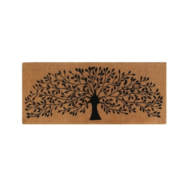 "A1HC First Impression Hand Crafted ""Tree Of Life"" FADE RESISTANT 24 in. x 57 in. Entry Double Door Mat"