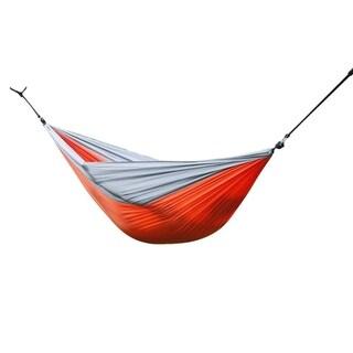 AT6737 Nylon Parachute Fabric Double Hammock Orange & Gray