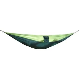 AT6737 Nylon Parachute Fabric Double Hammock Dark Green & Green