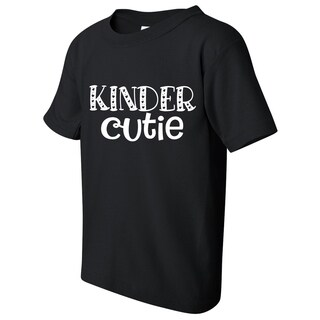 Kinder Cutie Kid's Kindergarten Funny Black T-shirt with Saying