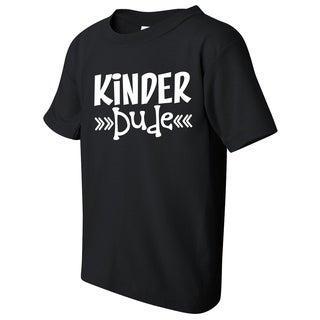 Kinder Dude Kid's Kindergarten Funny Black T-shirt with Saying