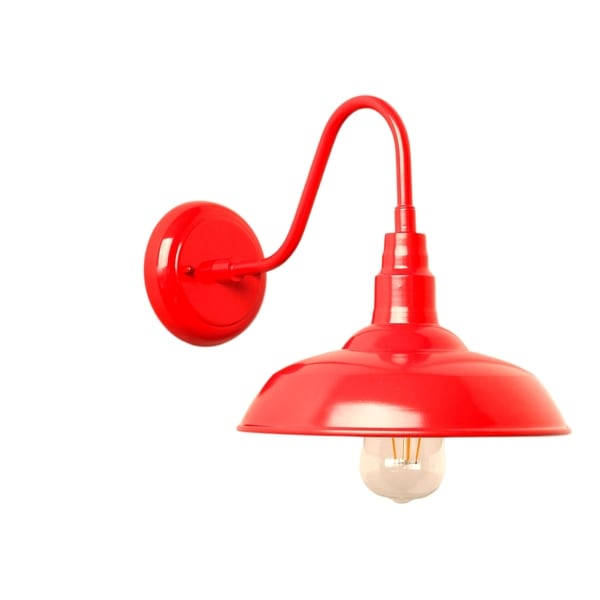 Y Decor Lora 1 Light Outdoor Wall In Red