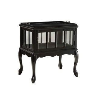 Fidelia Console Table & Tray, Black