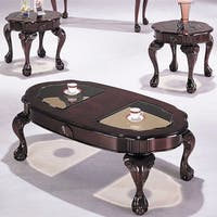 Canebury  Coffee/End Table Set, Cherry, Pack Of 3 Pieces
