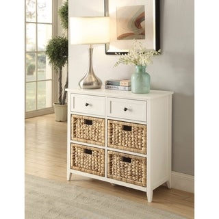 Flavius Console Table With 6 Drawers, White