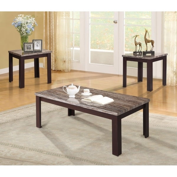 shop carly coffee end table set cherry pack of 3 piece on sale free shipping today. Black Bedroom Furniture Sets. Home Design Ideas