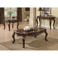 Wooden Imperial Coffee Table, Brown Cherry