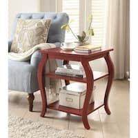 Becci End Table, Red