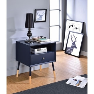 Sonria II End Table, Black & Natural