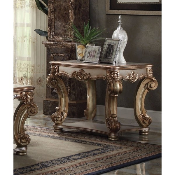 Vendome End Table, Gold Patina