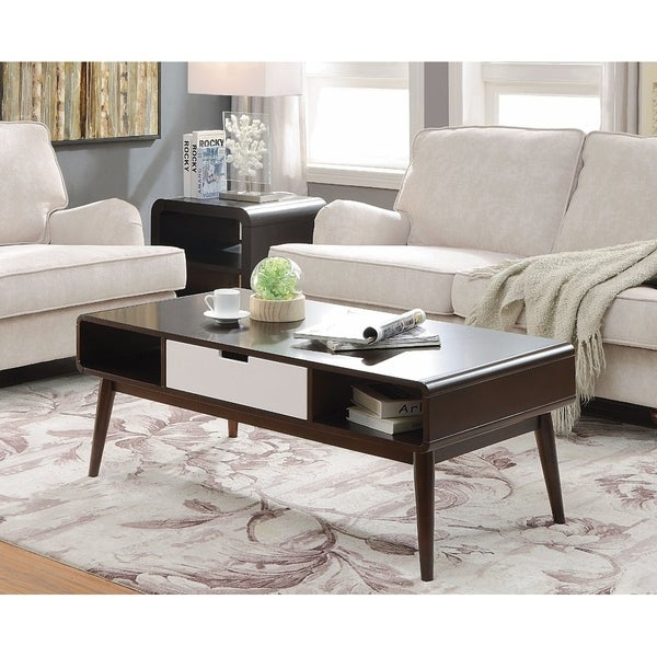 Trendy Coffee Table, Espresso & White