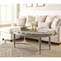 Conventional Coffee Table, Antique Gray