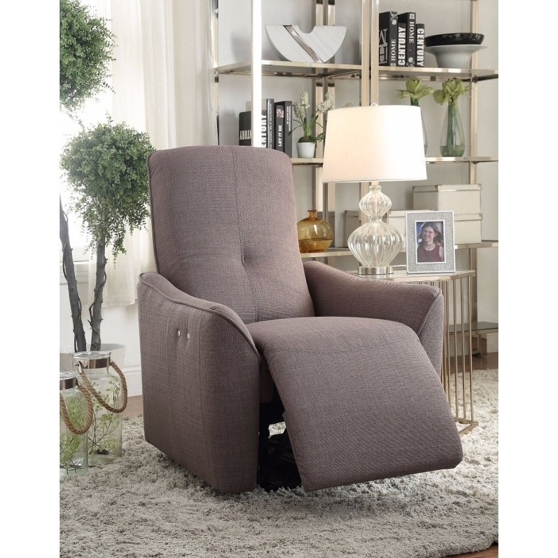 Agico Recliner , Gray Fabric Grey Standard