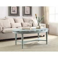 Conventional Coffee Table, Antique Green