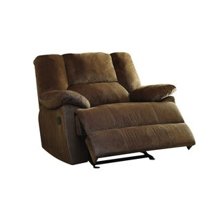 Pull Out Metal Recliner with Fabric Padded Seating, Brown