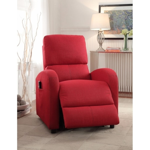 Croria Recliner with Power Lift, Red Fabric