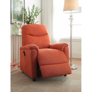 Catina Recliner with Power Lift, Orange Fabric