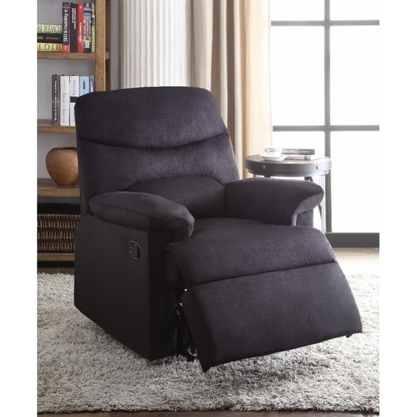 Arcadia Relaxing Recliner In Black Woven Fabric