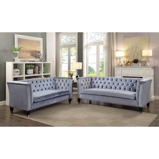 Imperial Honor Sofa, Blue-Gray Velvet