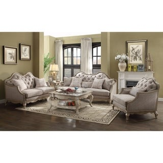 Majestic Sofa with 5 Pillows, Beige