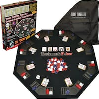 Trademark Games Texas Traveller Table Top and 300 Chip Travel Set