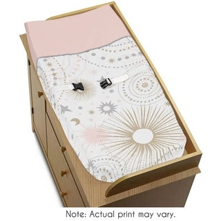 Sweet Jojo Designs Changing Pad Cover for the Pink and Gold Celestial Collection