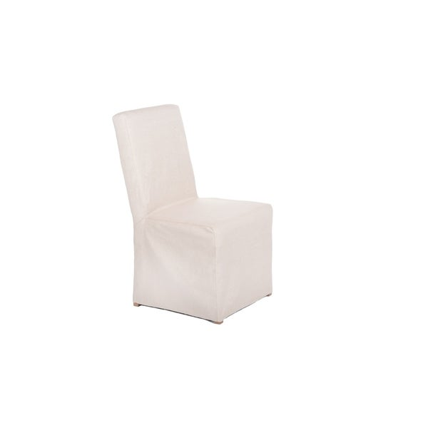 Dining Room Slipcovers Armless Chairs: Shop French Slipcover Armless Dining Room Chair Set Of 2