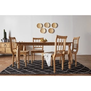 Sand Traditional Natural Pine Large Spindal Dining Table