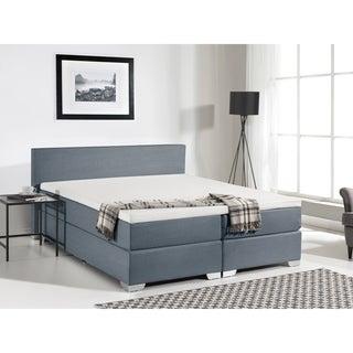Beliani Grey Fabric Queen Bed
