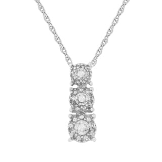 Link to Sterling Silver 0.02ct TDW Rose Cut Diamond Three Circle Frame Pendant (I-J,I2-I3) Similar Items in Bracelets