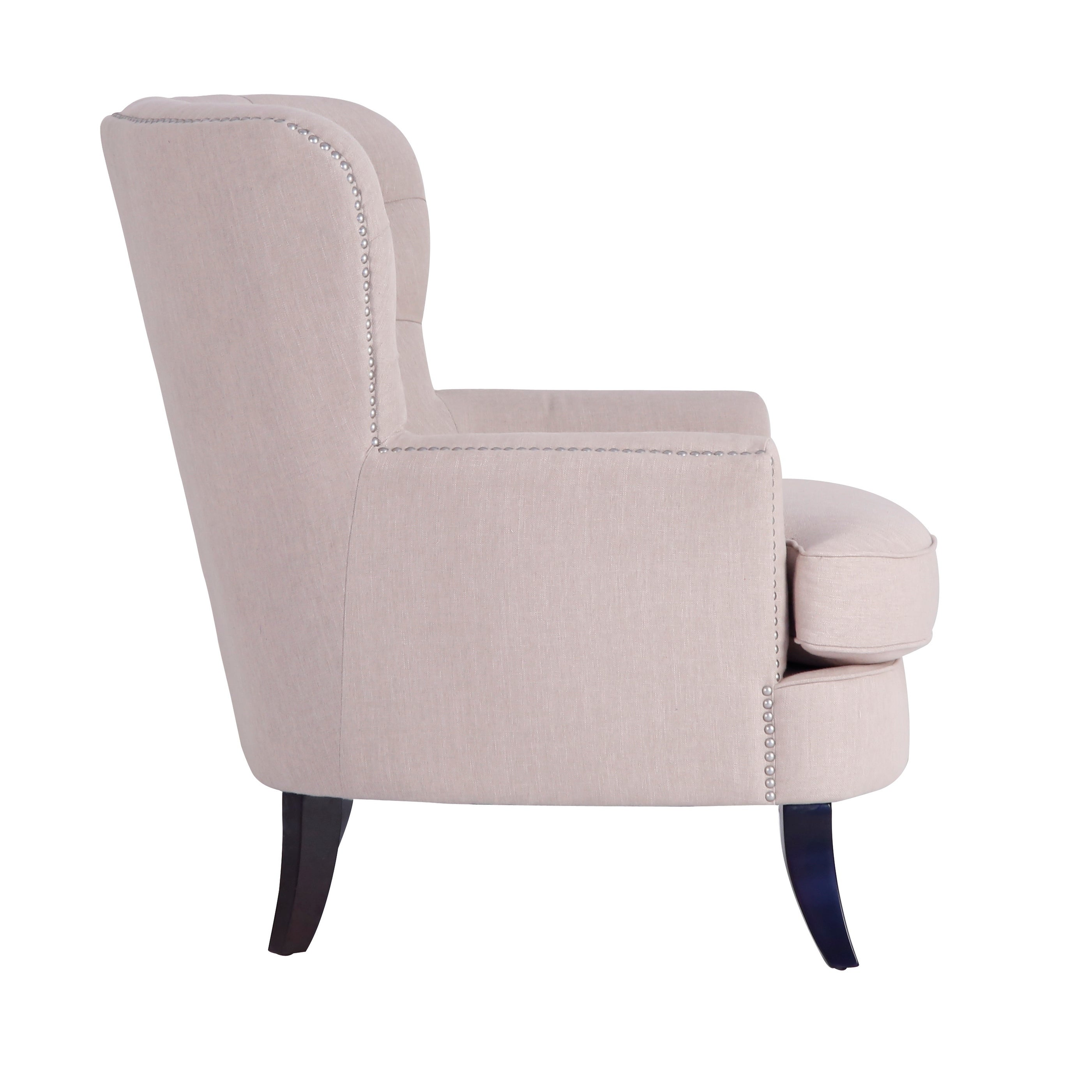 upholstered wingback chair linen carlson in modern fabrics