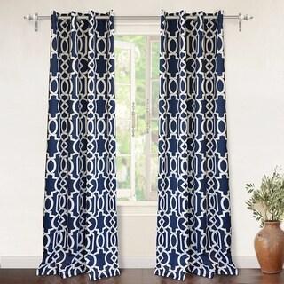 DriftAway Abigail Trellis Room Darkening Window Curtains, 2 Panels