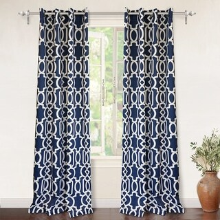 DriftAway Abigail Trellis Room Darkening Window Curtain Panel Pair
