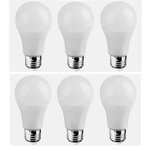 Led a19, 5000k, 300°, cri80, es, ul, 6.5w, 40w equivalent, 25000hrs, lm480, dimmable, input voltage 120v 6 pack