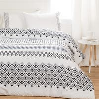 South Shore Lodge White Printed Comforter with pillow shams