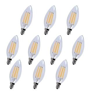Led e12 candelabra, 2700k, 300°, cri80, es, ul/cul, 4w, 40w equivalent, 15000hrs, lm300, dimmable, input voltage 120v 10 pack