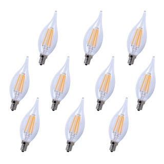 Led e12 candelabra, 3000k, 300°, cri80, es, ul/cul, 4w, 40w equivalent, 15000hrs, lm300, dimmable, input voltage 120v 10 pack